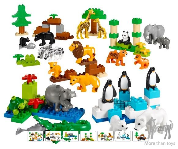 Dzikie Zwierzęta Lego Edu Duplo 104 Elementyentów W Dziecięce
